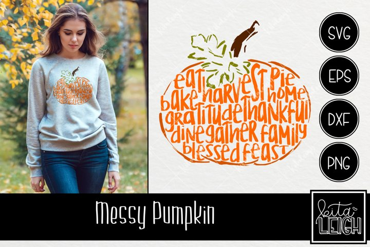 Messy Thanksgiving Pumpkin