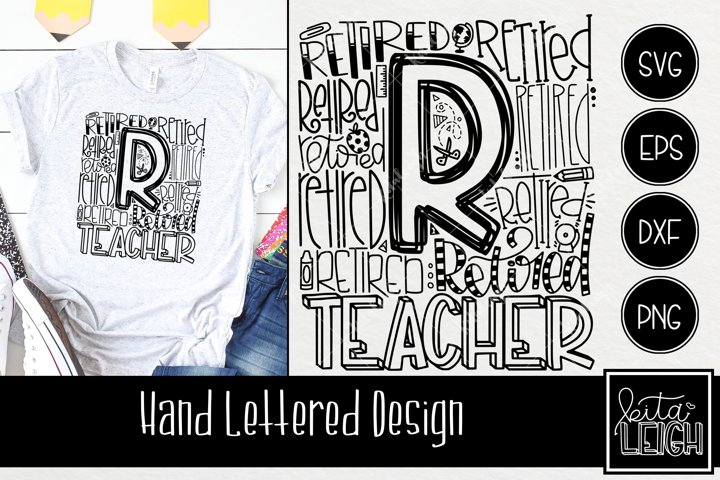 Retired Teacher Typography