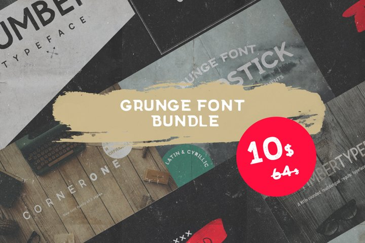 Grunge fonts Bundle