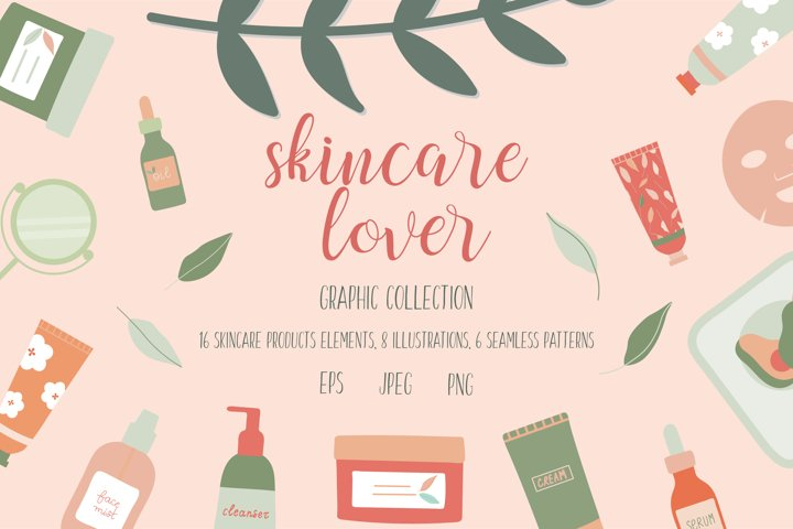 Skincare Lover Illustrations and Patterns