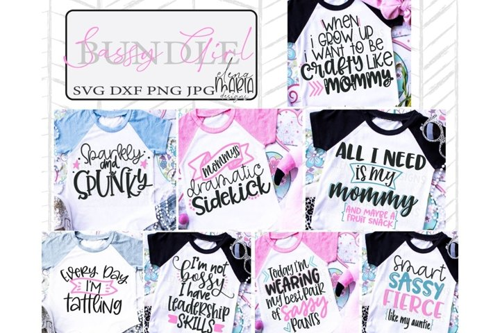 Sassy Toddler Girl Svg Bundle | Shirt Bundle | Mom Cut File
