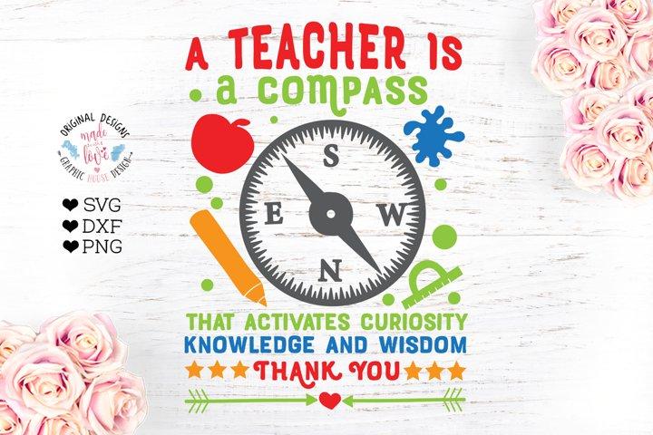 A teacher is a compass cut file