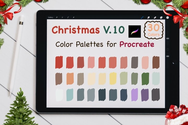 Color Palettes set for Procreate - Christmas V.10