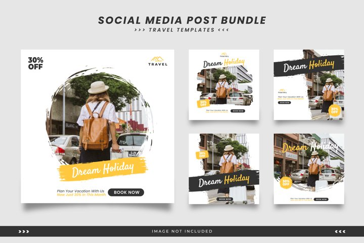 Social media templates for travel