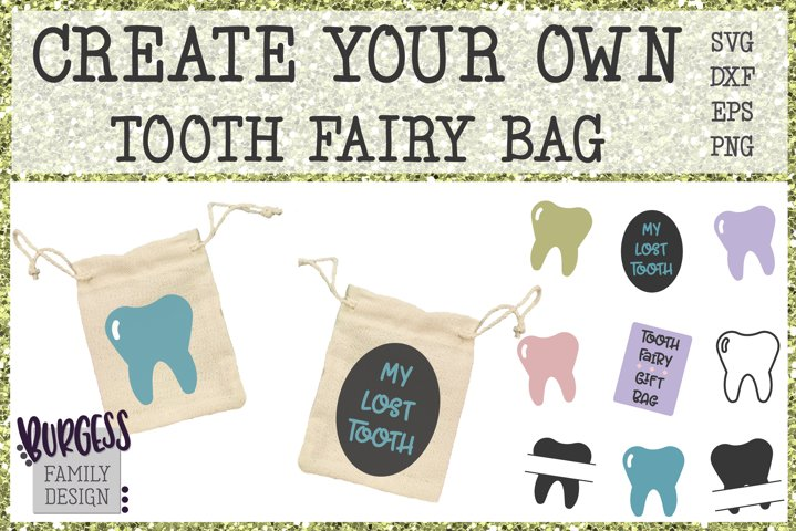 Create your own tooth fairy bag | Cuttable