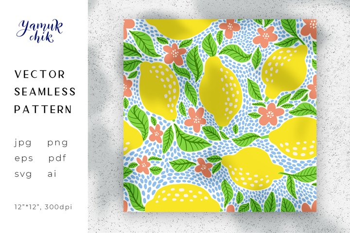 Lemon Digital Paper png, lemon seamless pattern, citrus pape