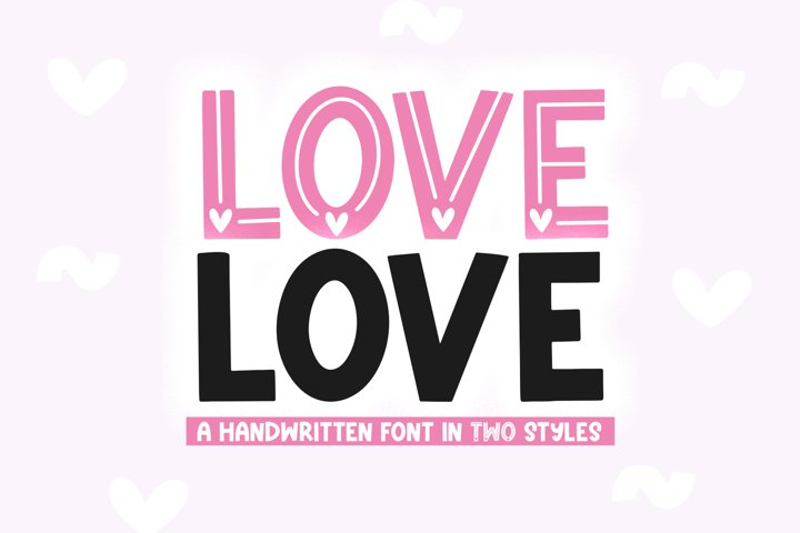 Love Love - Cute Valentines Day Font