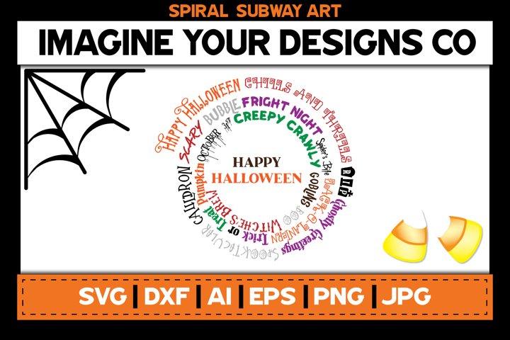 Halloween Spiral Subway Art, SVG Cut File Sublimation