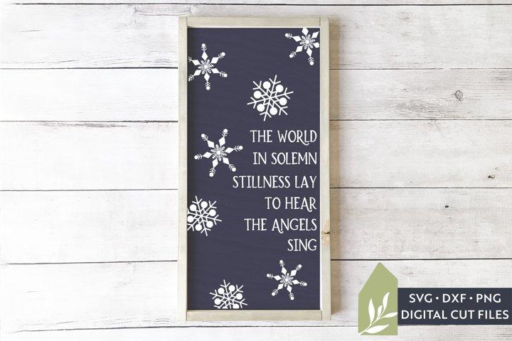 Snowflake SVG, Christmas Carol Sign SVG