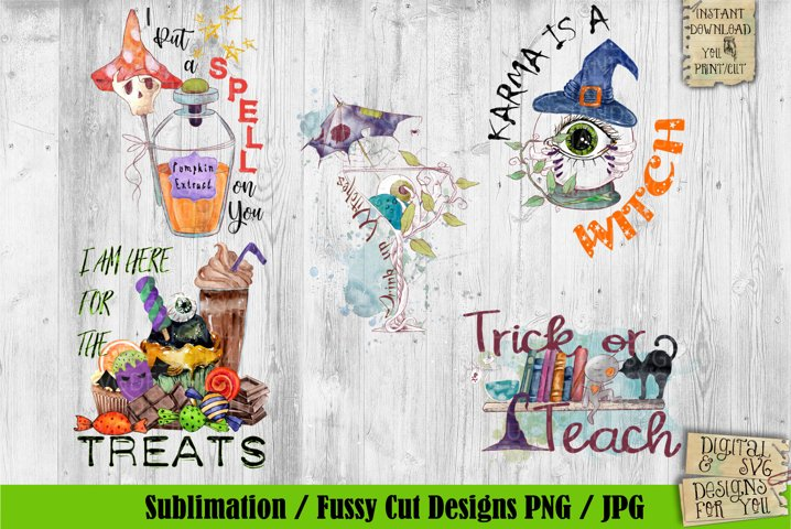 Halloween Bundle| Sublimation | Phrases | Quotes | PNG