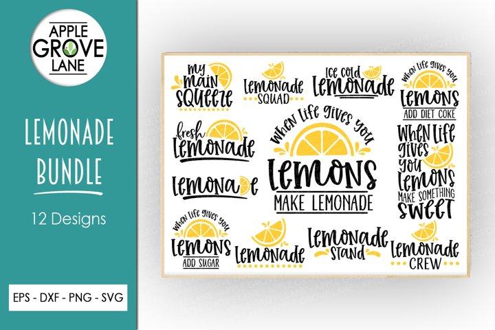 Lemonade Svg Bundle - 12 Designs - Summer Svg Cut Files