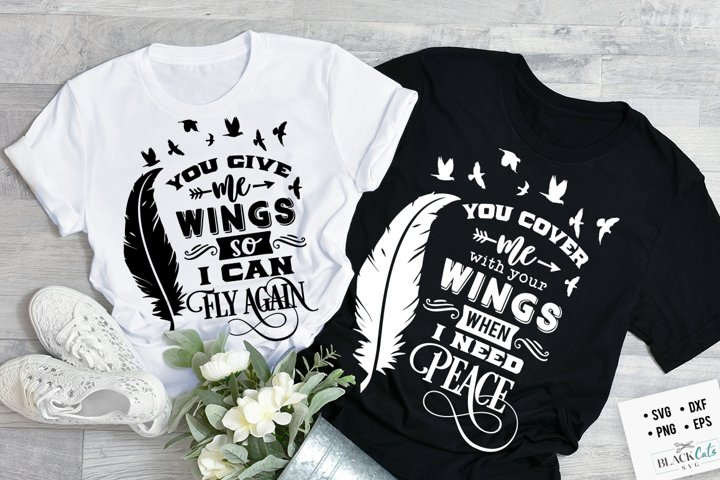 You give me wings SVG couple matching SVG