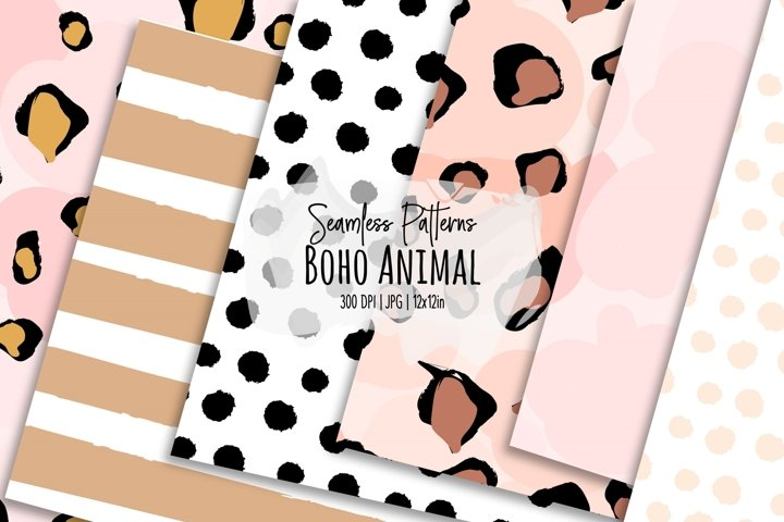 Boho Animal Seamless Patterns