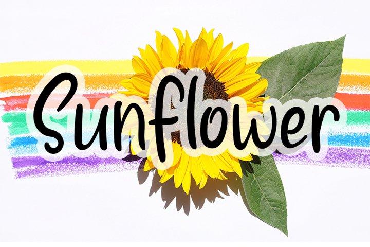 Sunflower - Handwritten Font