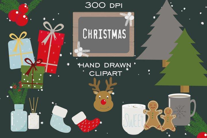 Hand drawn Christmas clipart