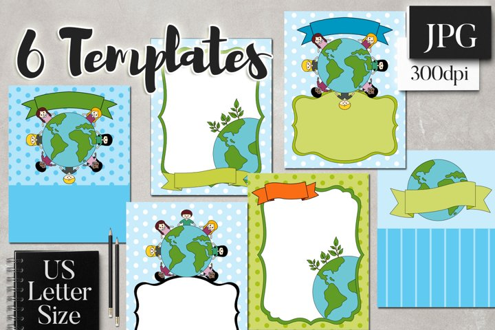 Earth Day Go Green Flyer Templates