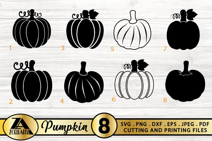 Pumpkin SVG PNG EPS DXF Pumpkin Clipart Pumpkin SVG Bundle
