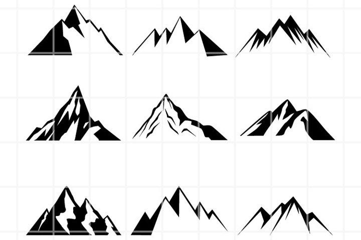 Mountains SVG. Travel Bundle cut files. Hike cutting files.