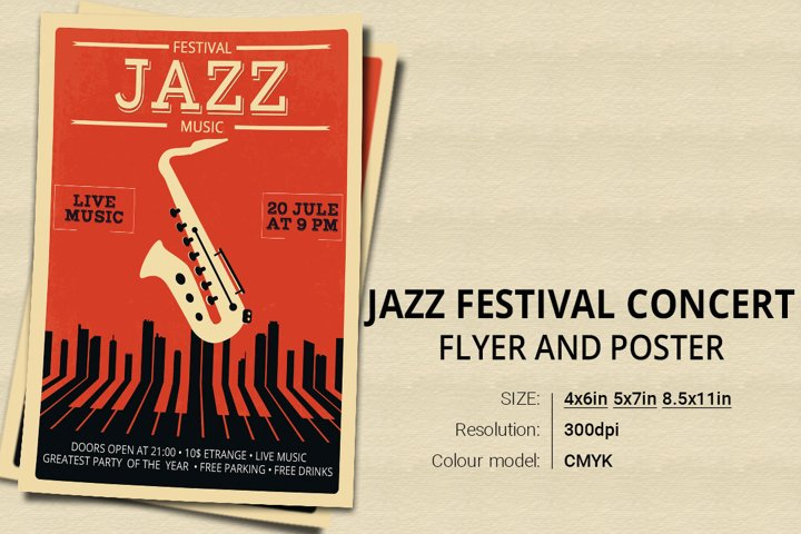 Jazz Festival Concert Event Flyer