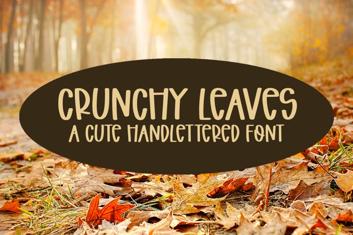 Crunchy Leaves - A Fun Hand-Lettered Font