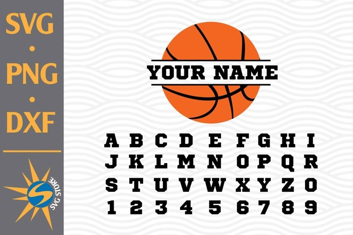 Split Basketball SVG, PNG, DXF Digital Files Include