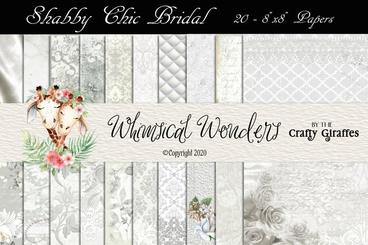 Shabby Chic Bridal - 20 8x8 Papers