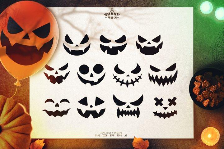 Pumpkin Face SVG | Halloween Balloon Faces SVG