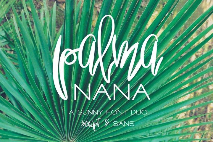 Palma Nana - Sunny Font Duo