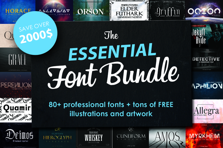 FONT BUNDLE - Over 80 professional fonts