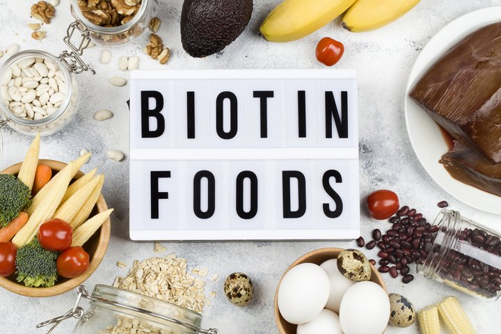 Food rich in biotin.