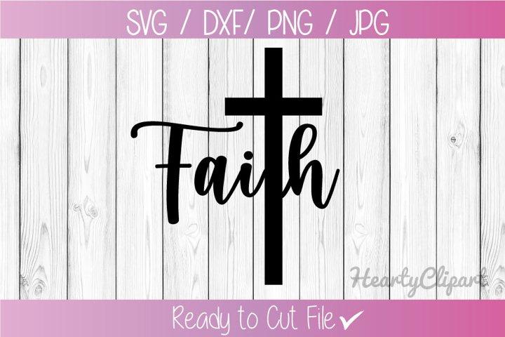 Faith cross svg, cut file