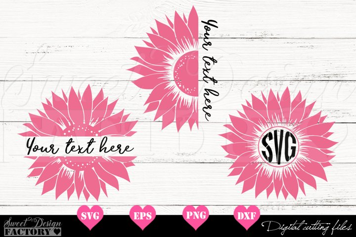 Sunflower monogram Svg