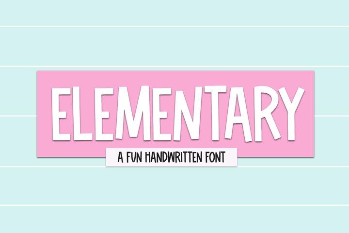 Elementary - A Fun Handwritten Font