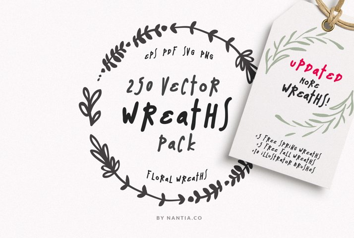 250 Digital Wreaths Vector MEGA Pack