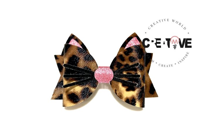 Cat Hair Bow Digital Template   Bow Template   CWC137