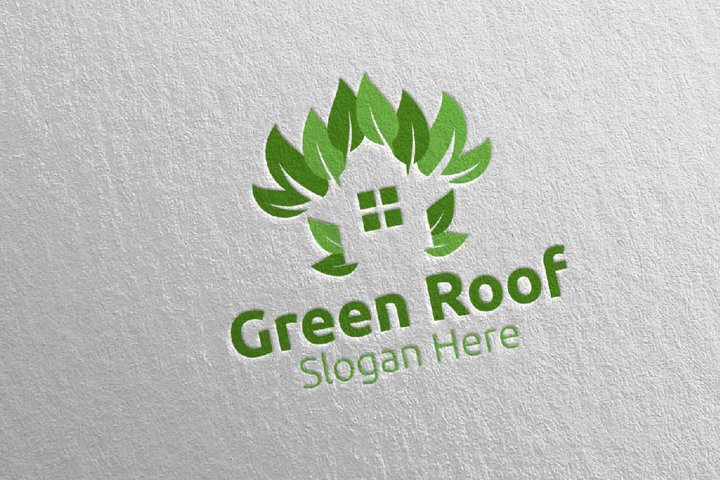 Real estate Green Roofing Logo 57