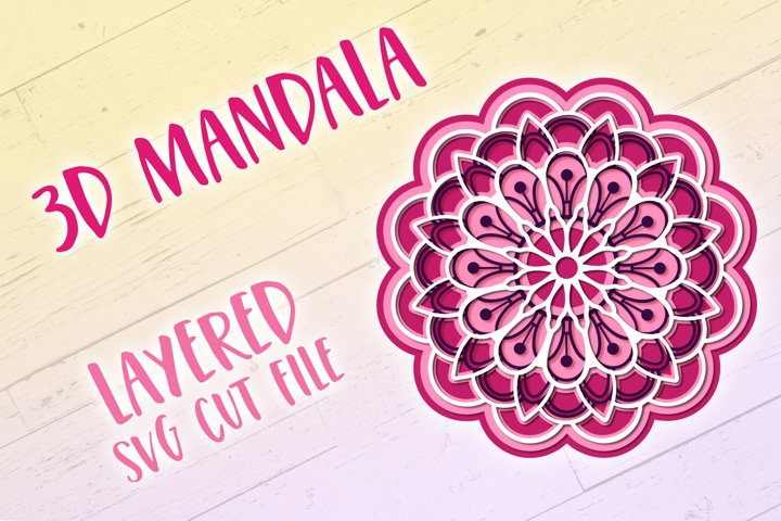 3D SVG Mandala | 3D Papercut Mandala - Free Design of The Week