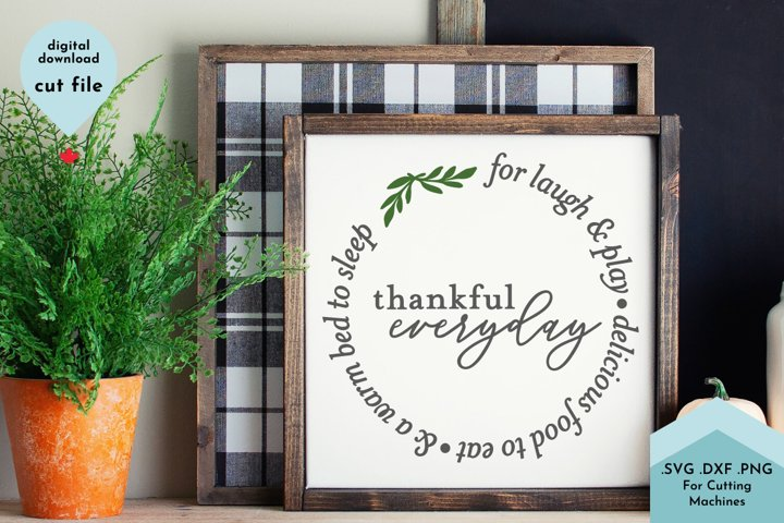 Inspirational SVG - Thankful, Grateful, thanksgiving sign