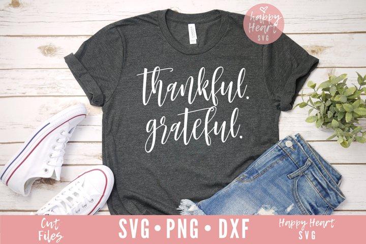 Thankful Grateful SVG