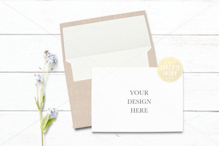 Invitation Mockup | Card & envelope mockup | Simple mockup