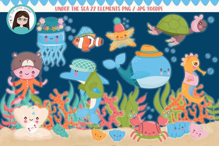 Under the sea cliparts