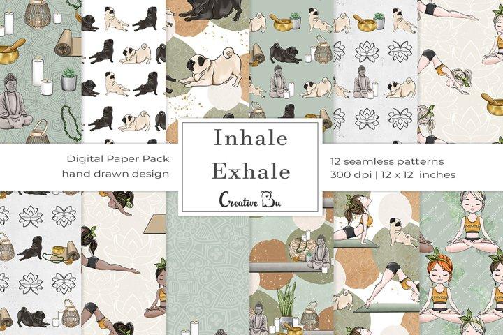 Inhale Exhale- Digital Pattern