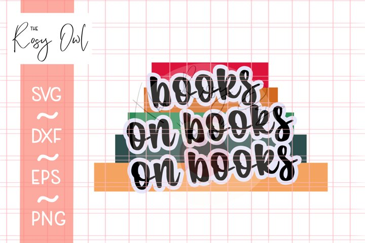 All the Books SVG PNG DXF EPS