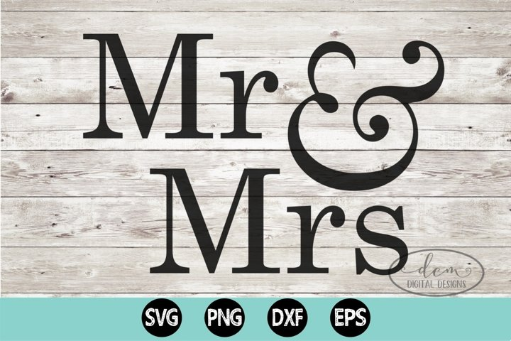 Mr & Mrs Wedding Anniversary SVG, PNG, DXF, EPS