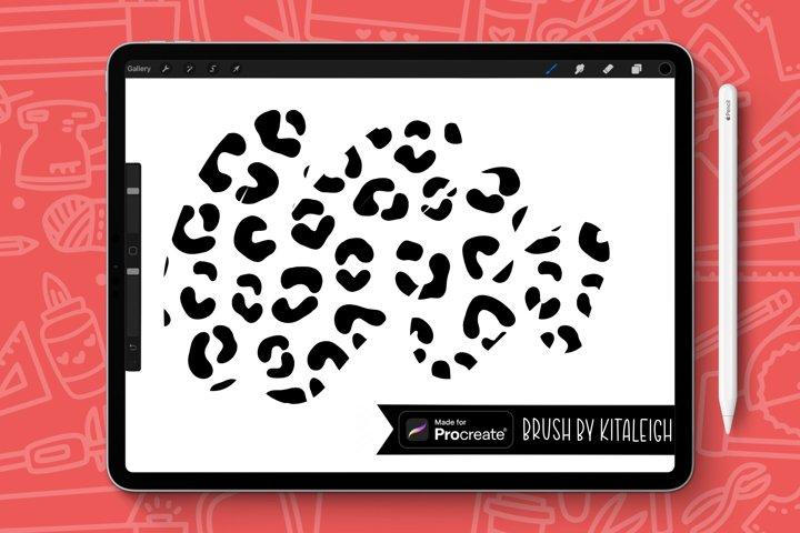 Leopard Print Patterned Procreate Brush