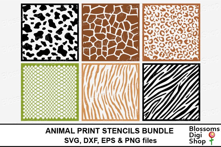 Animal Print Stencils Bundle