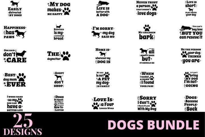 25 designs dog quotes bundle