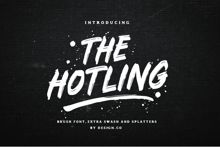 The Hotling Brush Font Extras