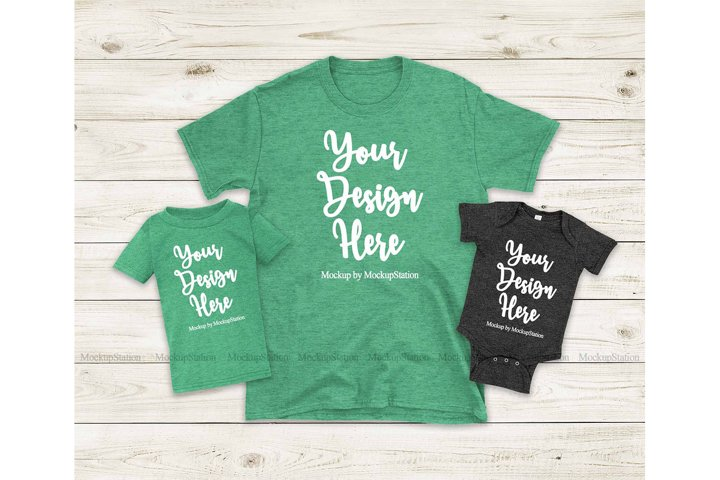 St Patricks Mommy and Me Green Shirts, Matching Family Tees