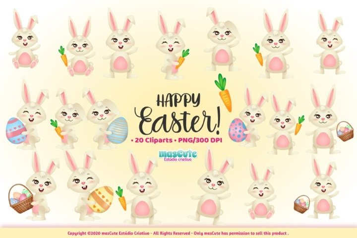 Easter clipart, Easter Bunny graphics & illustrations example